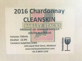 2016 Chardonnay CLEANSKIN - By the Dozen